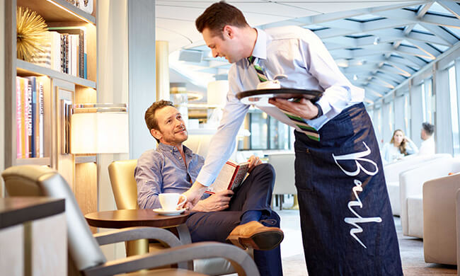 luxury travel - onboard dining - crystal cruises