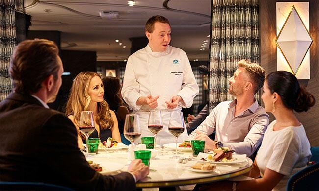 on board dining - crystal cruises - regional cuisine